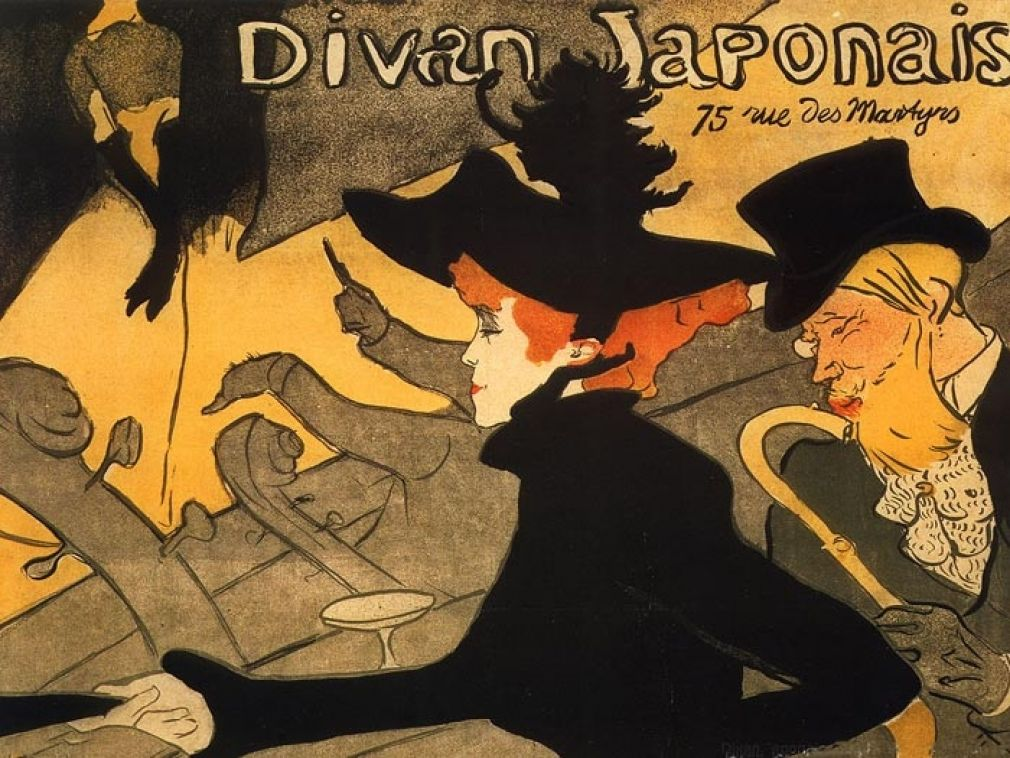Divan Japonais, 1893 - Lithograph (in four colours) on wove paper, 81x62,3 cm - Budapest, Galleria Nazionale